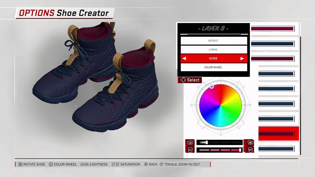 NBA 2K18 Shoe Creator - Nike LeBron 15