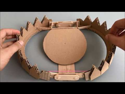 How to make a trap on a bear from Cardboard