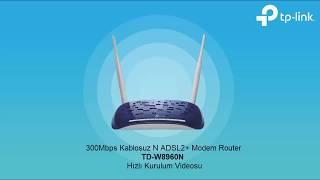 300Mbps Kablosuz N ADSL2 Modem Router TD-W8960N (V8)