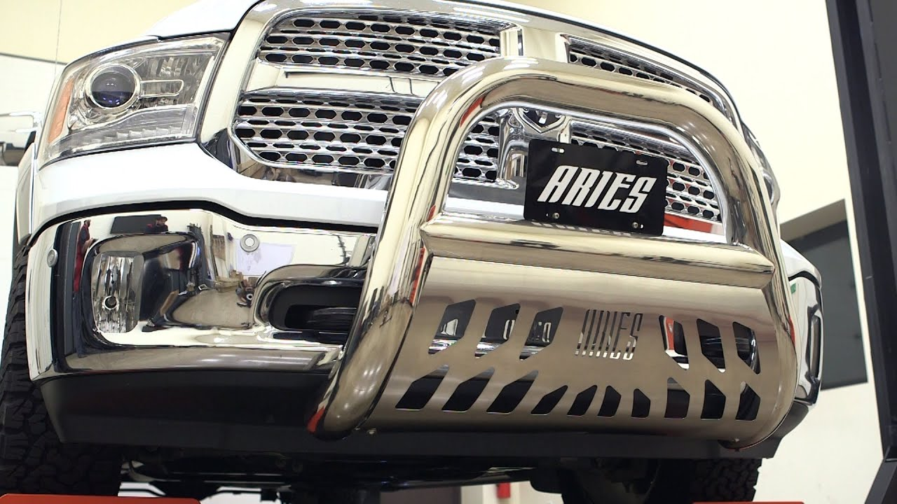 Aries bull bar install 4 big horn 45 5005 on ram 1500 youtube mozeypictures Image collections