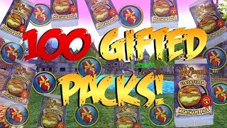 Wizard101: Opening 100+ GIFTED PACKS!! (CRAZY LUCK)