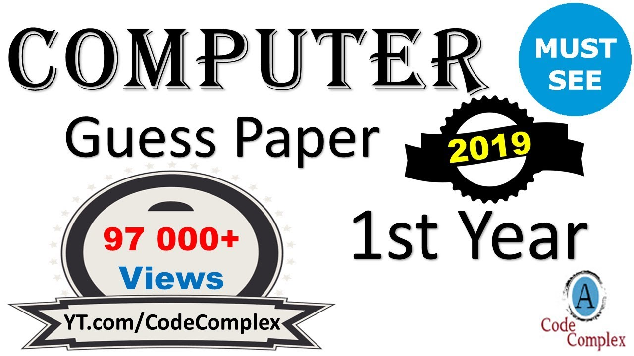 Guess Paper Computer - Computer 1st year 2018 - 1st year Computer Guess  Papers 2018