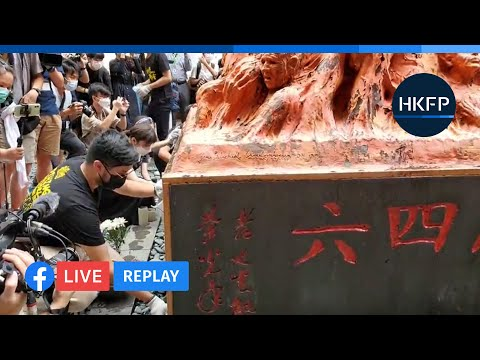 HKFP_Live Replay: Students wash Tiananmen Massacre Pillar of Shame