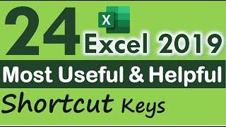 top 24 excel shortcut keys  in Hindi