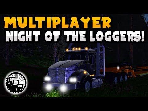 Farming Simulator Logging - MP25 - Night Logging On Jade Mountain!