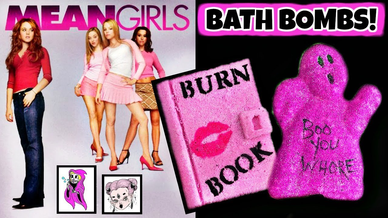 "Video STRAWBERRY BOO - MEAN GIRLS ""Burn Book"" Bath Bomb Demo Review *Feat. GLITTER & G"