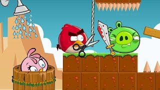 Angry Birds Take A Shower 2 - TRAPPING PIGGIES TO STEAL SHOWER FOR STELLA!