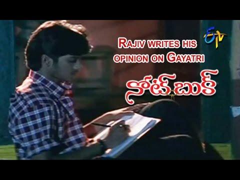 Notebook Telugu Movie | Rajiv writes his opinion on Gayatri Scene | Rajiv | Gayatri | ETV Cinema