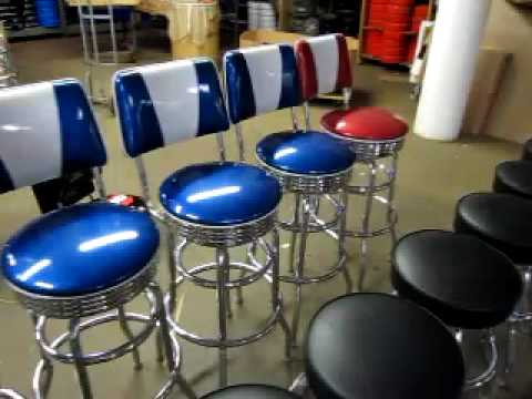 retro bar stools that look like they are from the 1950s