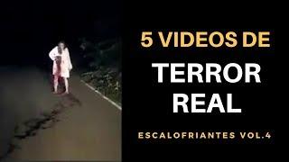 5 Vídeos de TERROR REAL Escalofriantes Vol. 4 l Pasillo Infinito