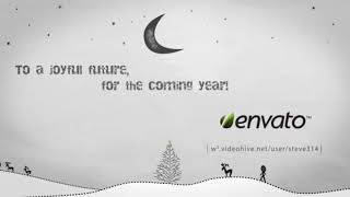 Inkman presents Xmas & New year& 39 s Greetings AE After Effects Project Files hive template