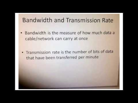 BTEC difference between bandwidth and transmission rate