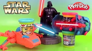 Pâte à modeler Play Doh Star Wars Can Heads Dark Vador Luke Skywalker Guerre des Etoiles
