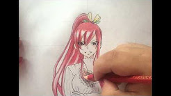How to draw Erza Scarlet Christmas requip (Fairy Tail)