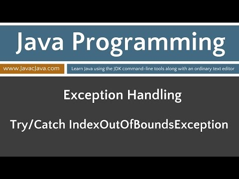 Learn Java Programming - Try/Catch IndexOutOfBoundsException Tutorial