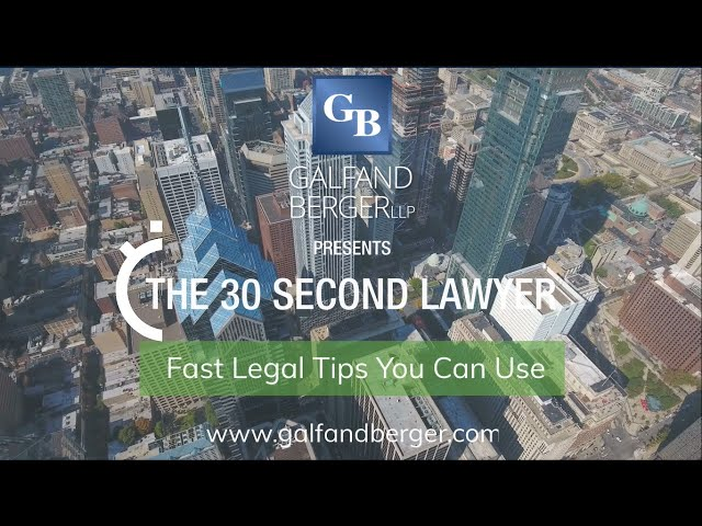 The 30 Second Lawyer - Products Liability