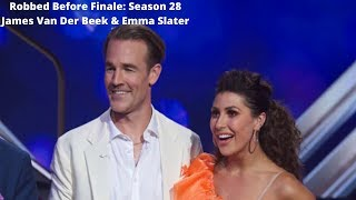 Robbed Before Finale: Season 28 James Van Der Beek & Emma Slater
