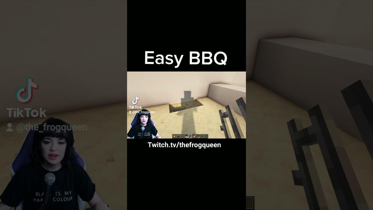 Minecraft Easy Furniture Tutorial : BBQ #shorts