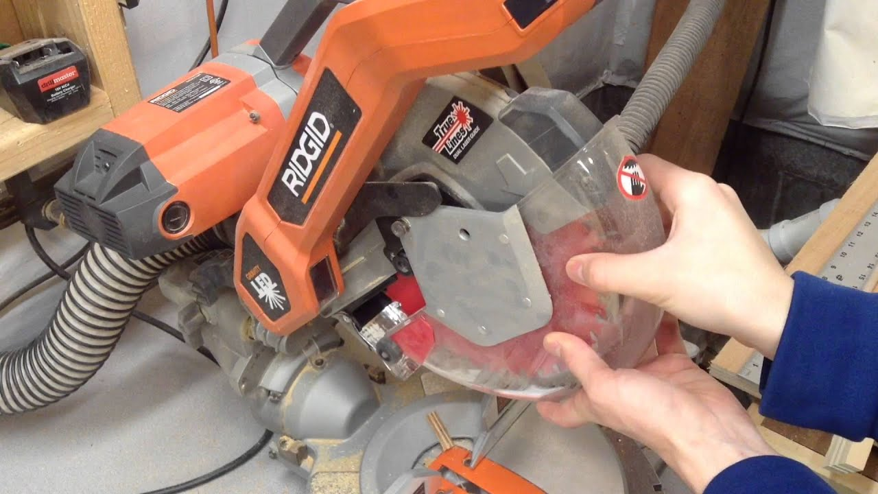 Changing blades on the ridgid miter saw youtube greentooth Image collections