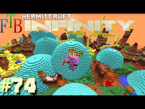 Minecraft Mods - FTB Infinity Ep. 74 - Diamond Block World !!! ( HermitCraft Modded Minecraft )