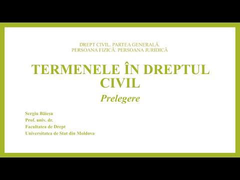 Prof. univ. dr. Sergiu Baiesu — Termenele în dreptul civil  (MD)