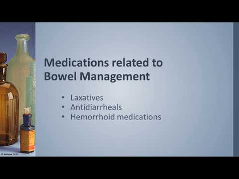 Understanding Medication: Bowel Management