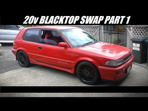 4AGEED Garage AE92 Blacktop 20v swap - Part 1
