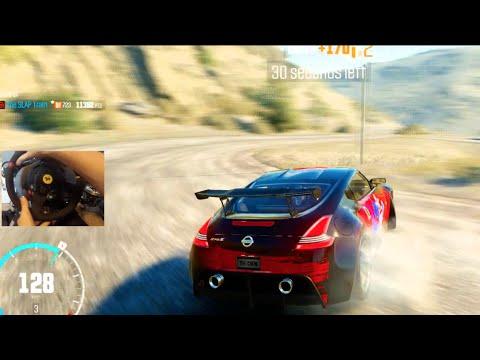 The Crew Wild Run Pt2 - GoPro Drifting Mountains w/Hardcore vs Sport Steering