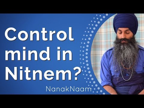How to control the mind during Nitnem?