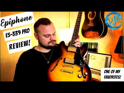 epiphone es 339 pro review semi hollow electric guitar youtube. Black Bedroom Furniture Sets. Home Design Ideas