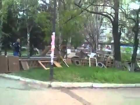 Ukraine, Slovyansk 02.05.14 Славянск - обстановка на улицах города