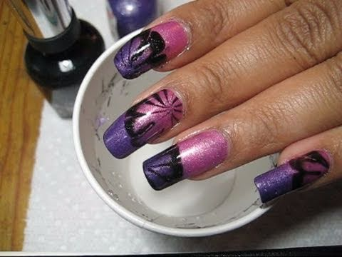 Purple Amp Pink Mood Polish Water Marble Nail Art Tutorial Youtube