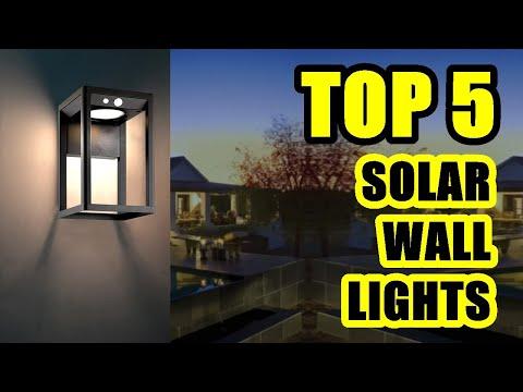 TOP 5: Best Outdoor Solar Wall Light 2021 | Great Decor for Garden, Garage