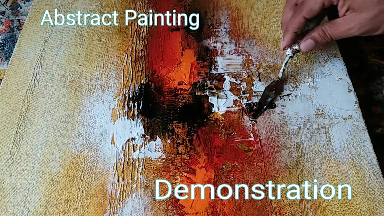 Abstract Painting Demonstration Of Easy Abstract