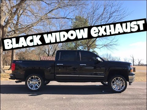 Silverado Black Widow Race Venom Muffler Fly By Youtube