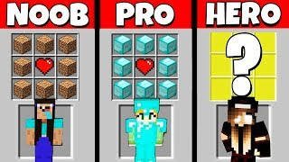 Minecraft Battle: NOOB vs PRO vs HEROBRINE: GIRL CRAFTING CHALLENGE / Animation