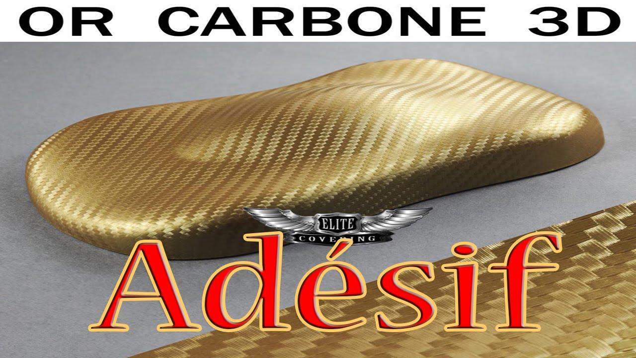 Film Adhésif Pour Covering ( CARBONE OR 3D ) Voiture, Moto, Déco Maison,  Etc.