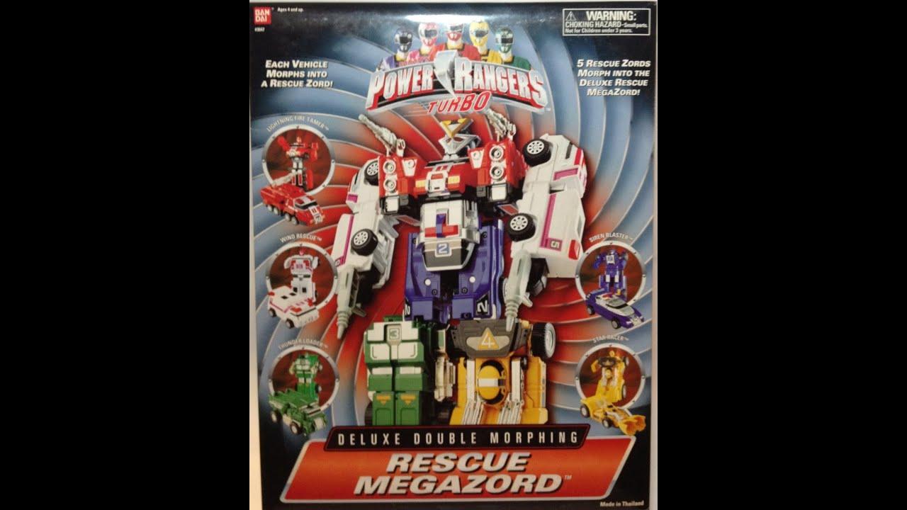 Rescue Megazord Review Power Ranger Turbo Youtube