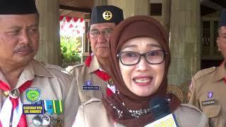 Sekwan DPRD Kab Indramayu Hadiri Upacara Puncak HUT Pramuka ke 56 Tahun 2017