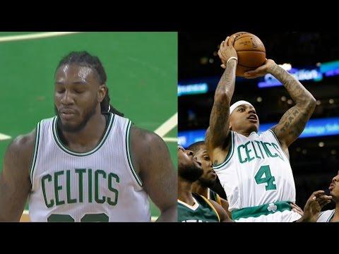 Crowder Mad Fans Cheer Hayward! Isaiah Thomas Career High 15 Asts!  Jazz vs Celtics