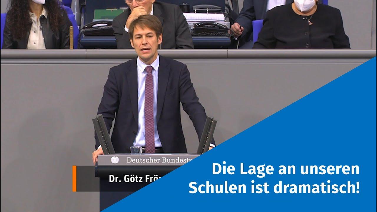 """27.11.2020 """"Die Lage an unseren Schulen ist dramatisch!"""" - Götz Frömming"""