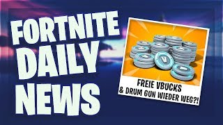 *FREE* VBUCKS & DRUM GUN WIEDER WEG?! - Fortnite Daily News (14 May 2019)