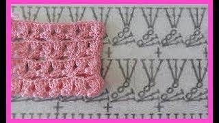 Узор - имитация безотрывного мотива,вязание крючком, crochet beautiful pattern(узор №231)