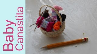 Como hacer una CANASTA MINIATURA con sus Estambres How to Make a Tiny Basket with stamens Tutorial I