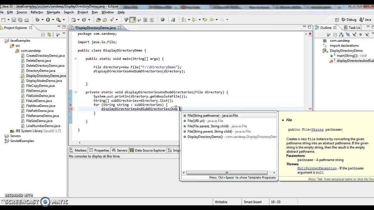 get list of files in directory java