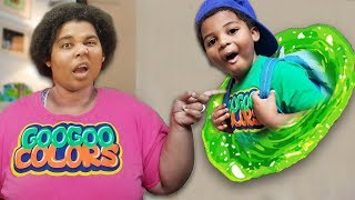 GOO GOO GAGA DISAPPEARED THROUGH MAGIC WALL! (Hide n Seek Family skit)