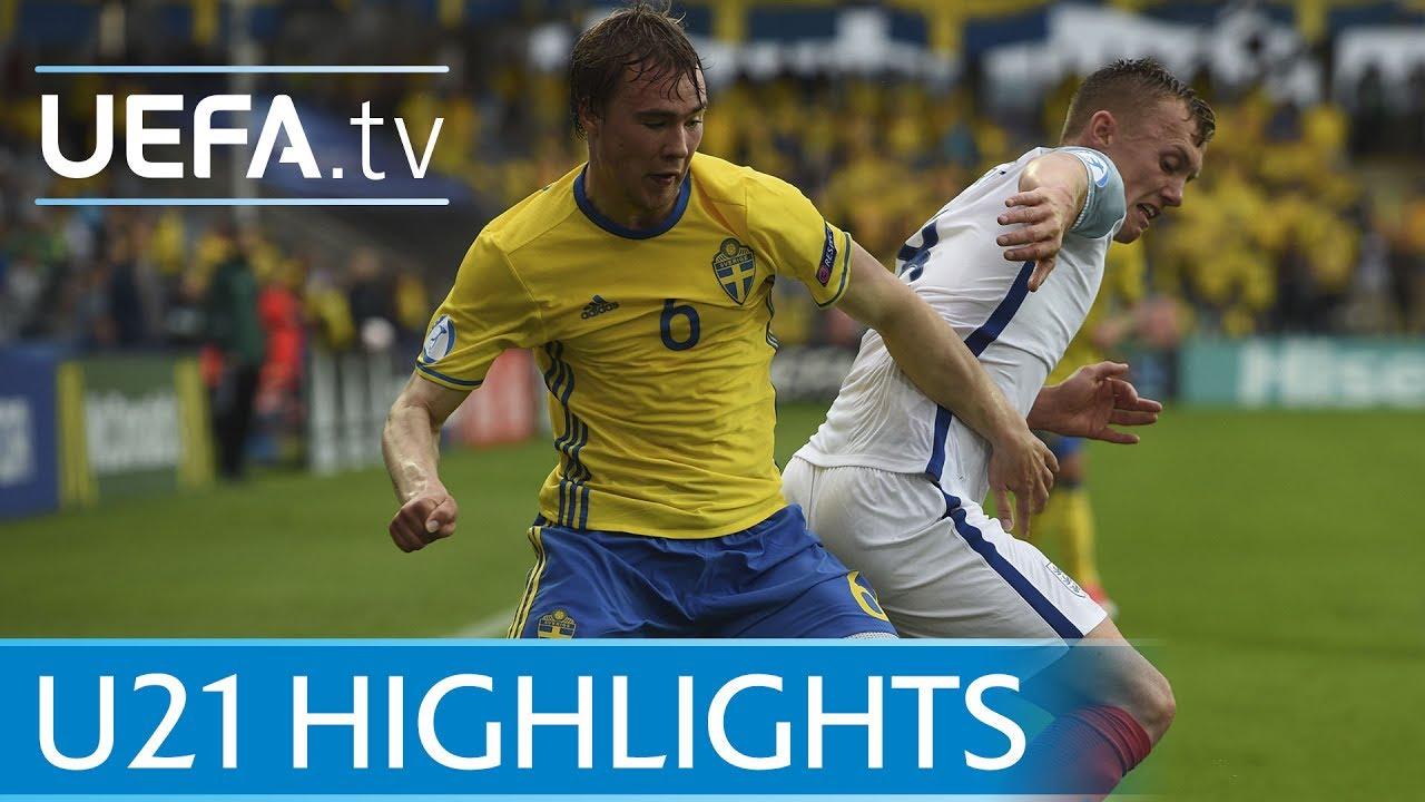 Швеция U-21 - Англия U-21 0:0 видео
