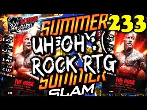 WWE SUPERCARD S3 #233 – OOOPS OUT OF TIME??? – ROCK RTG LAST DAY