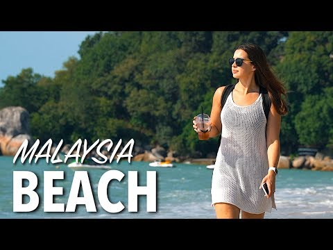 BEST BEACH IN PENANG MALAYSIA - Batu Ferringhi Beach & Night Market
