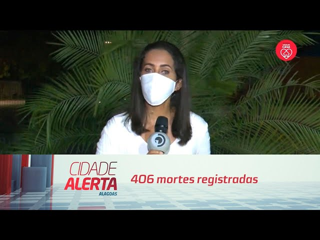 Alagoas tem 8619 casos da covid-19: 406 mortes registradas